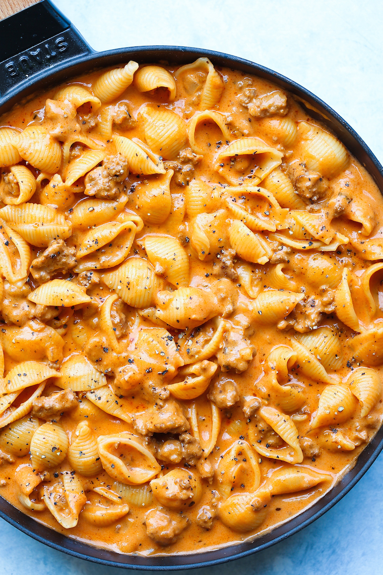 Creamy Beef And Shells Damn Delicious